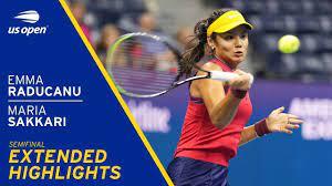 Emma Raducanu vs Maria Sakkari Extended Highlights | 2021 US Open Semifinal  - YouTube