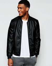 river island faux leather er jacket in black men jackets river island boots