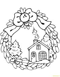 Wreath Coloring Pages Wreaths Free Download Page Easter Openonlineco