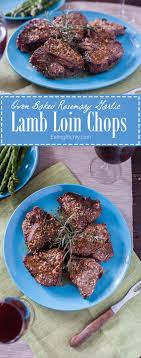 Lamb Loin Chops Are Marinated In Rosemary Garlic And Lemon Juice