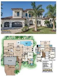 story coastal mediterranean floor plan