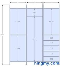 double hanging closet rod height techmonster info