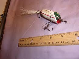 hand carved wooden fishing plug fishing lure sku 090