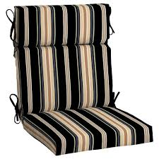hampton bay sky stripe high back outdoor dining chair cushion