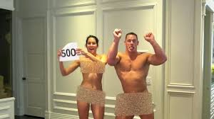 John Cena and new fianc e Nikki Bella strip NAKED to reward loyal.