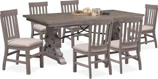 dining room furniture charthouse rectangular dining table and 6 side chairs gray