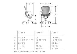Aeron Miller Size Chart Best 20 Aeron Chair Sizes Best Collections Ever Home