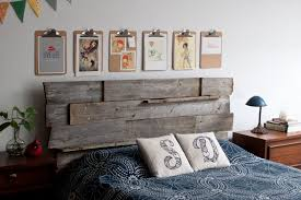 the reclaimed wood headboard