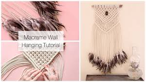 Macrame Wall Hanging How To Make A Macrame Wall Hanging Dreamcatcher With Feathers