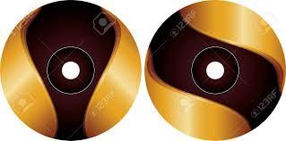 Cd Dvd Label Design Template Vector Art
