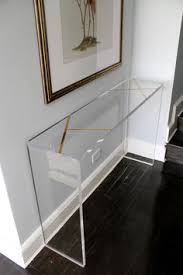 acrylic bedroom furniture. entry console custom lucite 125 thick table with solid brass inlay measures 52 furnitureacrylic acrylic bedroom furniture