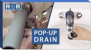 how to install a pop up drain in a