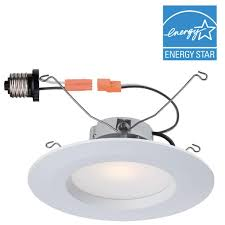 commercial electric 5 in and 6 in white recessed led trim with 2700k