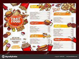 Restaurant Menu Template Restaurants Brochure Templates Fast Food Restaurant Menu