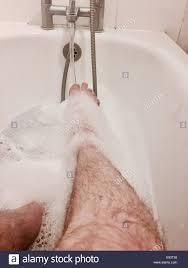 Hairy mature takes a bath