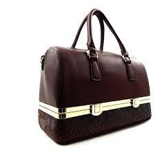 isabelle designer purses faux leather black brown and gray handbag groupon