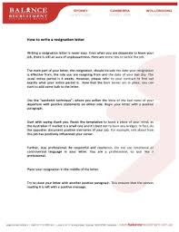 Formal Resignation Letter Sample With Notice Period Templates