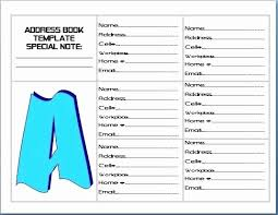 Address Book Template Excel Microsoft Word Address Book Template Beautiful Contact Address Book