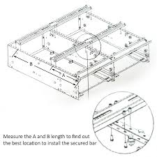 100cm vehicle storage drawers cargo rear drawer 100cmw fridge slide universal lockable 4wd 4x4