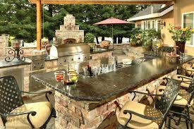 Custom Outdoor Kitchen Designs Cool Outdoor Kitchen Bar Finit