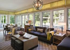 contemporary sunroom furniture. This Contemporary Sunroom Features Updated Furniture And Bright Pops Of Color Plus A Great View
