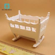 1:12 Doll House miniature handmade modern wooden furniture crib baby ...
