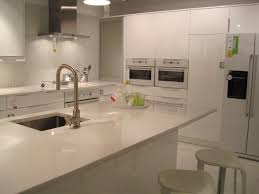 Like this high gloss white Abstrakt Kitchen at Ikea that we saw