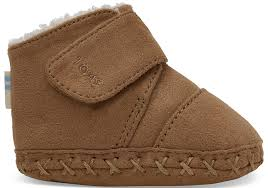 Toms Tiny Shoe Size Chart Toffee Microfiber Tiny Toms Cuna Crib Shoes