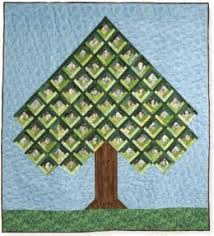 Tree Quilt Patterns Magnificent Bitty Pictures In The Center Of The Log Cabin I Suppose You Could