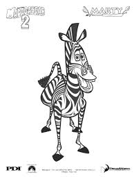 Small Picture Madagascar 2 marty the zebra coloring pages Hellokidscom