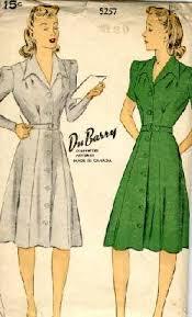 1940s Dress Patterns Extraordinary 48s Tailored Dress Pattern Sense Sensibility Patterns
