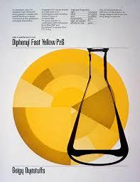 17 best images about geigy design advertising diphenyl fast yellow p2g kramer design burton kramer for geigy 1960
