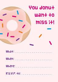 Print Out Birthday Invitations Stunning Mini Donuts Free Printable Donut Party Invitations Party Donuts