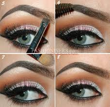 step by step tutorial on how to fill in eyebrows