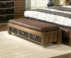 Leather Bed Bench Bedroom Bench Covers White Leather Bedroom Bench ...