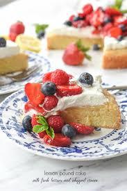 Lemon Pound Cake With Fresh Berries Your Homebased Mom