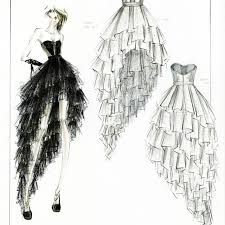 Fashion Designs Drawn How To Draw Complex Folds And Ruffles In