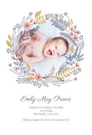 newborn baby announcement sample free baby birth announcement templates greetings island