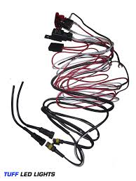 Amazon tuff led universal wiring harness with red led light pilot toggle switch for off road led light bars and led work l s utv truck suv