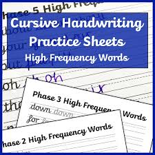 Phonics worksheets phase 6 tags : Cursive Handwriting Worksheets High Frequency Words Free Printable Mama Geek