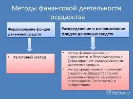 Презентация на тему Финансовая деятельность и финансовое право  13 Методы финансовой деятельности