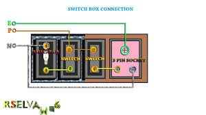 how to connection switch box use pin socket switch box how to connection switch box use 3 pin socket switch box connection junction box connection