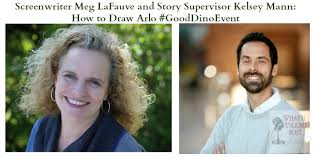 Screenwriter Meg LaFauve and Story Supervisor Kelsey Mann: How to Draw Arlo  #GoodDinoEvent
