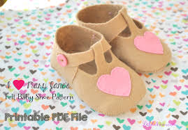Baby Shoes Pattern Simple I Heart Mary Janes Felt Baby Shoe Pattern PDF Baby Booties