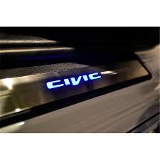 honda civic fb 2012 2018 oem stainless steel blue led car door side sill garnish loading zoom