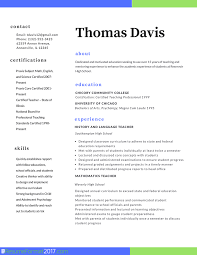 Teacher Professional Resume Format 2017 Resume Format 2017