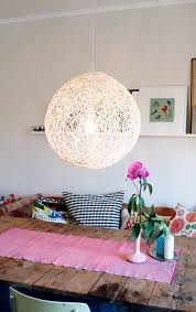 diy whirl yarn chandelier