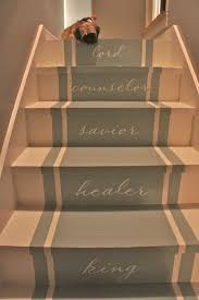 Painted Stairs Stair Makeover - Painted basement stairs