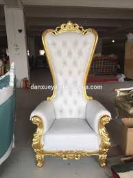 danxueya white throne chair luxury high back king throne chair for party