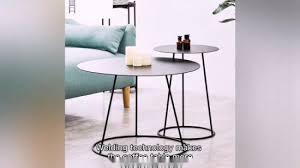 side table modern coffee table metal